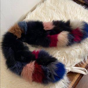 Vincent Pradiee 80% fox fur collar